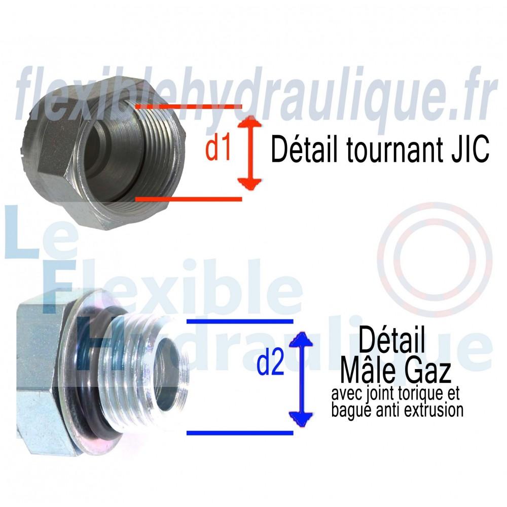 Coupleur hydraulique à Visser mâle 3/4 ISO14541